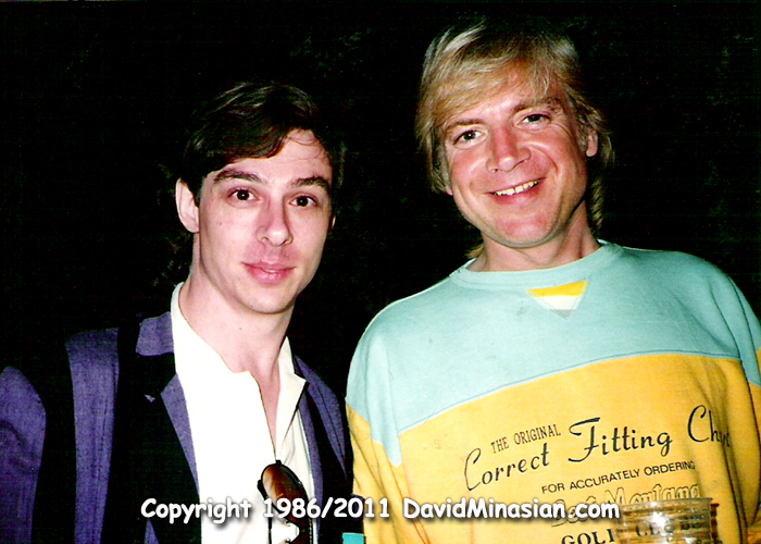 David Minasian with Justin Hayward of the Moody Blues